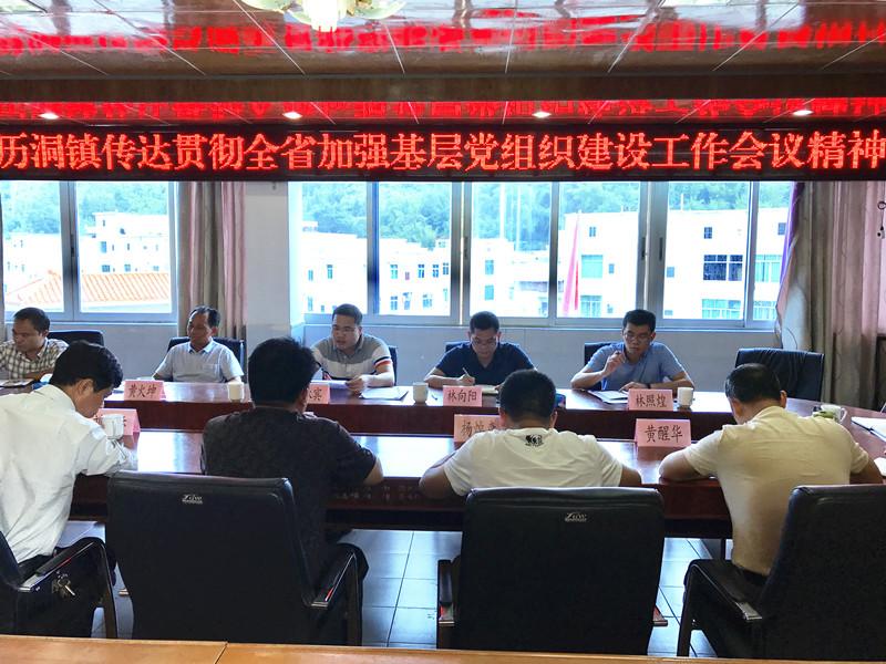 历洞镇传达贯彻全省加强基层党组织建设工作会